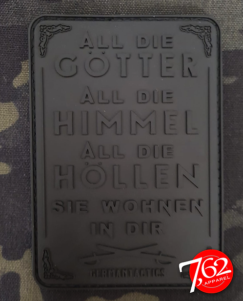 """ALL DIE GÖTTER 4 - ALL BLACK"" Rubber-Patch"