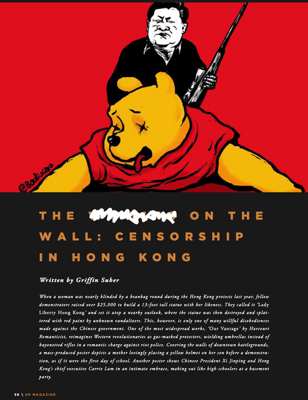 THE WRITING ON THE WALL: CENSORSHIP IN HONG KONG