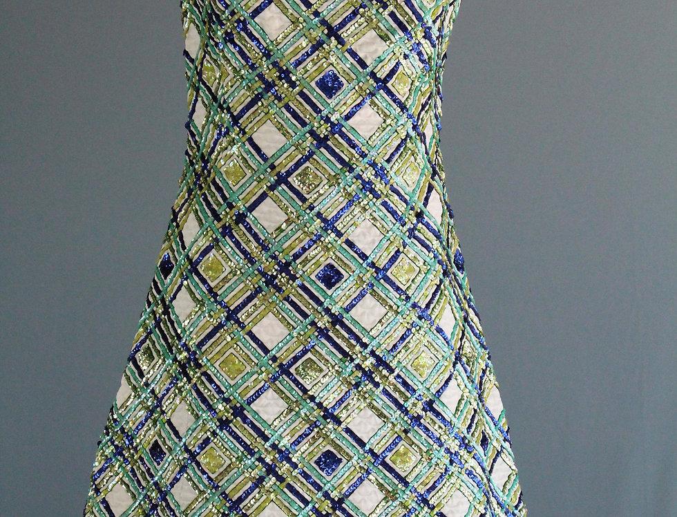 60s Dress Rare Victoria Royal MOD All over Sequin