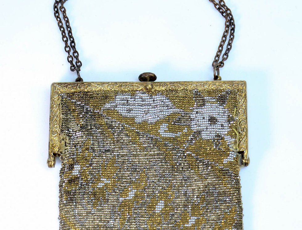 Vintage Art Deco Glass Beaded Purse France