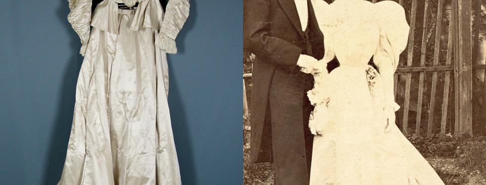 Victorian Wedding Dress, Belle Epoque Gown
