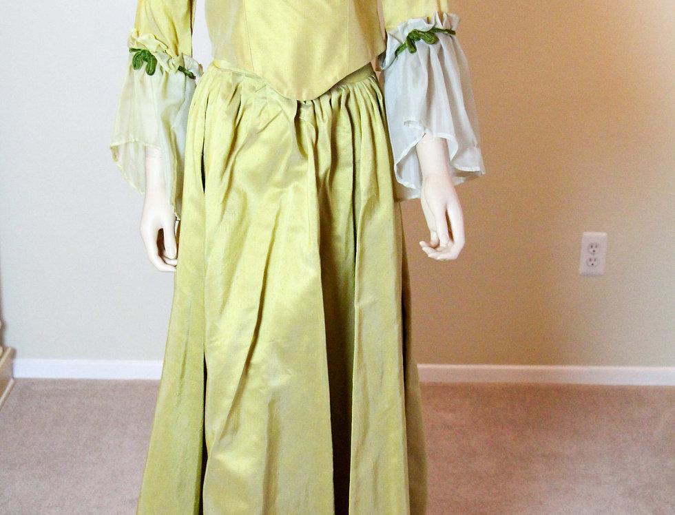 18th Century Gold Renaissance Dress