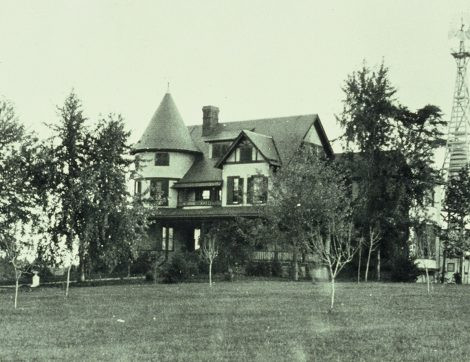 An early photograph of Hadley Hall