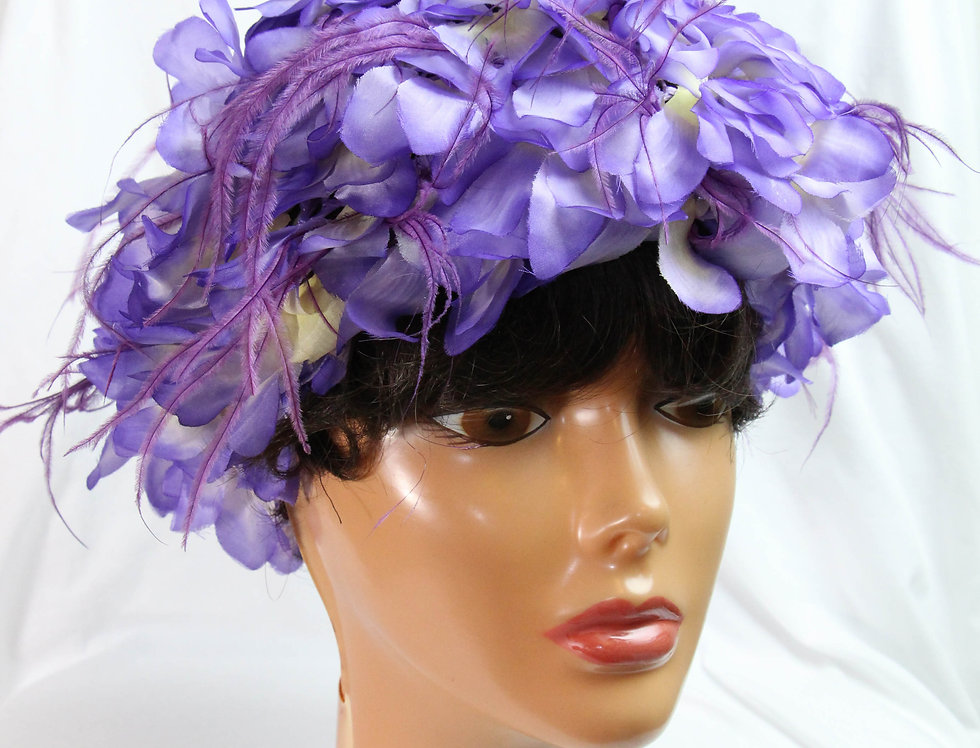 50s Patrice Bridesmaid Spring Hat Millinery Flower