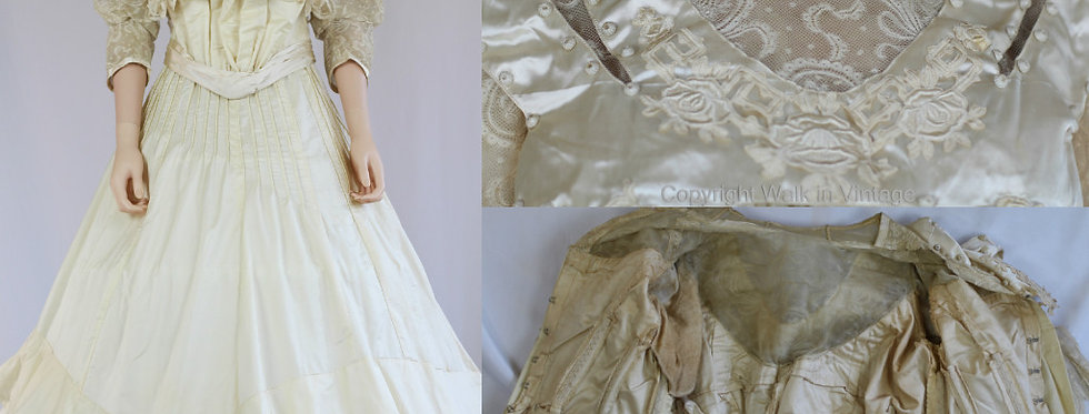 1860s Victorian Wedding Dress House of Weeks Paris