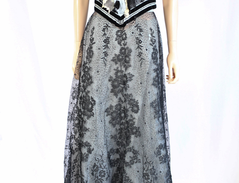 Victorian Evening Ball Gown Lace Dress