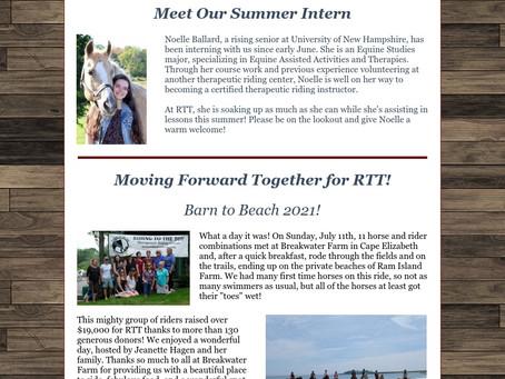 RTT Newsletter July 2021