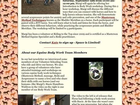 RTT Newsletter September 16th 2020