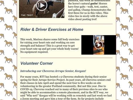 RTT Newsletter May 20 2020