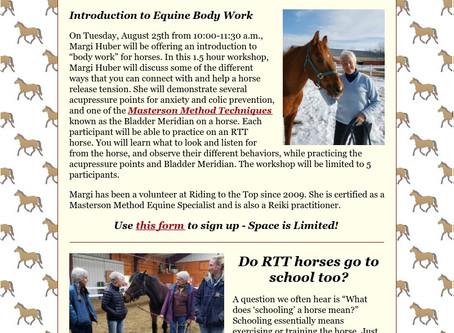 RTT Newsletter August  19th 2020