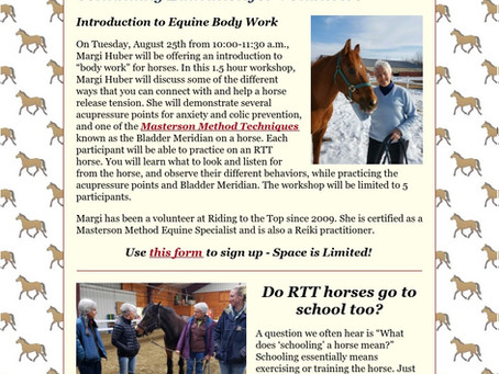 RTT Newsletter August  19th 2020