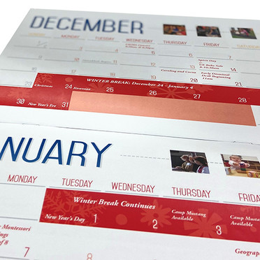 CVMS calendar designed by Chelsea Owen. Printed by Printing Solutions