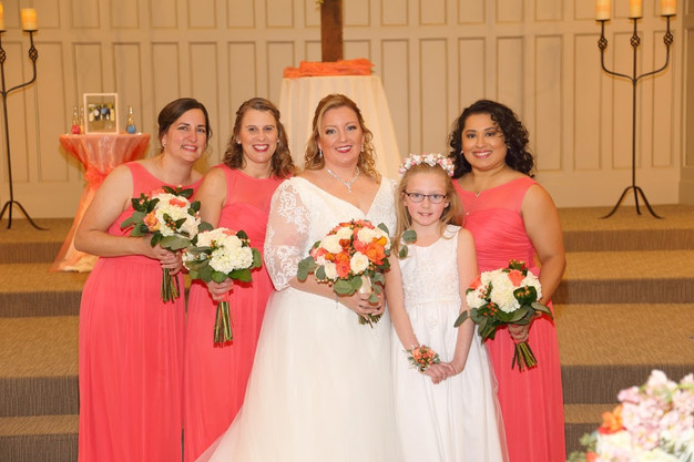 Kelly and her bridesmaids.