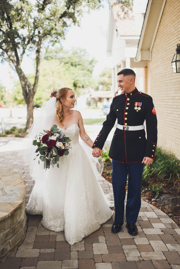The Marine Corps lent Emily her groom for their wedding and honeymoon.