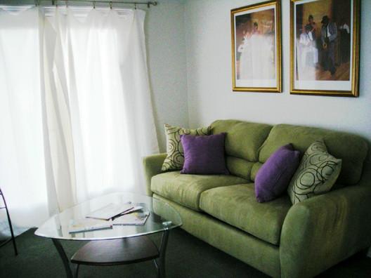 Sleeper sofa in the music room.