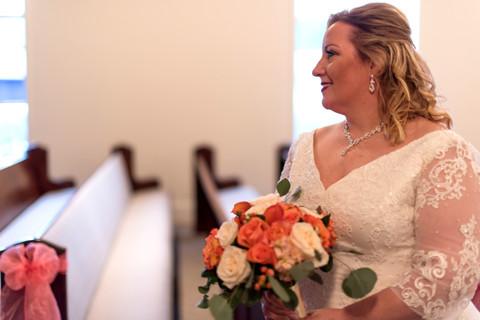 Bridal Portrait in the Chapel.