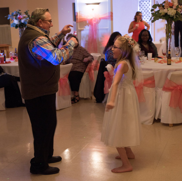 Dancing with my special girl.
