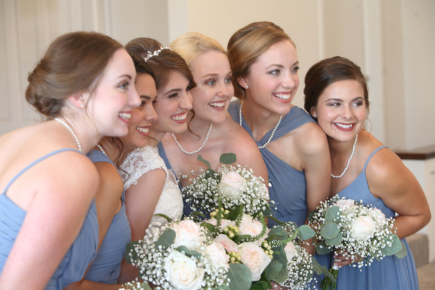 Best friends and bridesmaids.