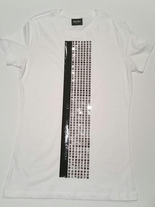 BLACK LIQUID  / CHROME CUBIC T-SHIRT