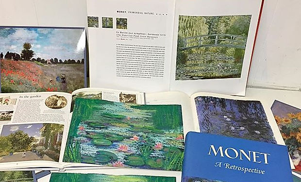 Working on a little #monet in #chalkpast