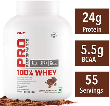 GNC Pro Performance 100 % Whey Protein Powder - 2 kg (4.4 lbs)