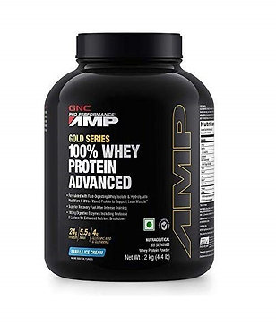 GNC 100% Whey Protein Amp Gold Advanced - 2 kg (4.4 lbs)