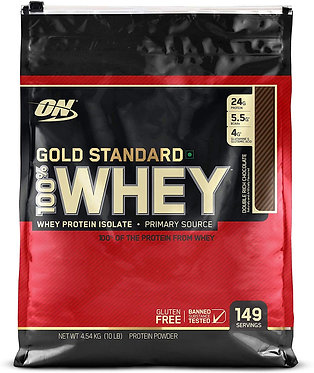 Optimum Nutrition (ON) Gold Standard 100% Whey Protein Powder - 10 lbs