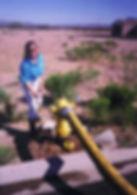 Kelly manning the hose.jpg
