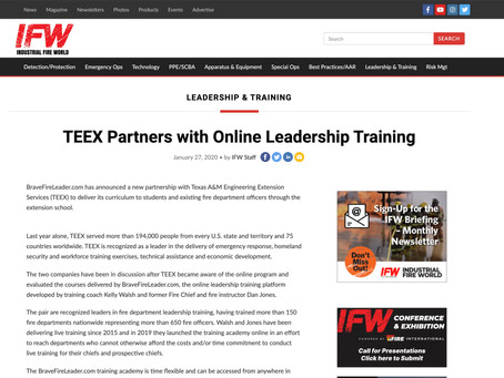 Brave Fire Leader Partners with TEEX