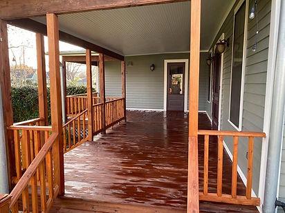 North Austin deck staining