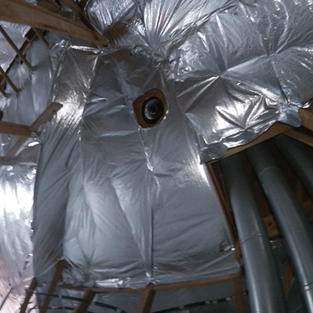 Insulation and radiant barrier install for client that lives in Austin.