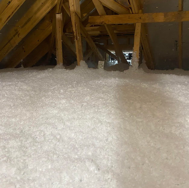 The new insulation we installed once the old insulation and debris is cleaned out.