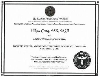 Utah Pain Management Physician