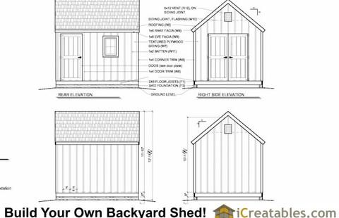 Shed Elevation Plan