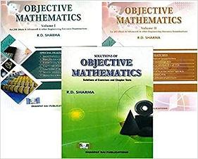 R.D. Sharma Objective Mathematics Book Vol-1 & 2 + Solution