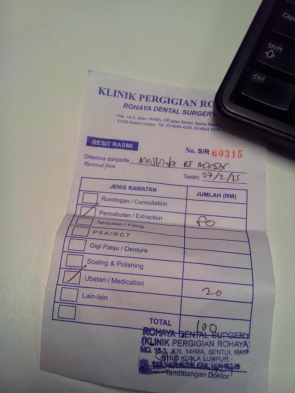 RM100 boleh claim dengan company