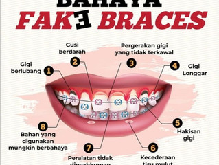 Bahaya pemakaian fake braces. Sila dapatkan perkhidmatan doktor pergigian yang bertauliah.  #DoktorG