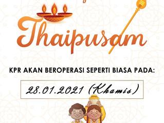 selamat menyambut hari thaipusam