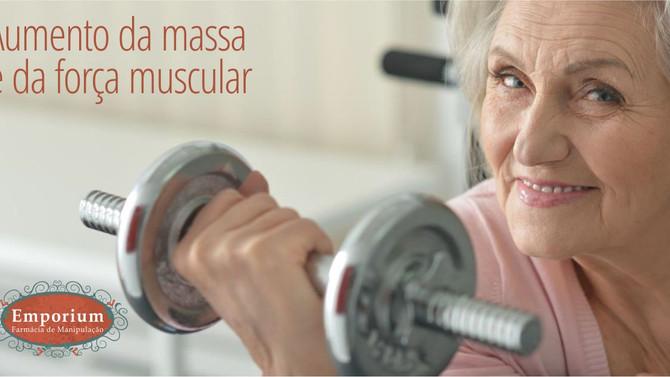 Aumento da massa e da força muscular em idosos sarcopênicos