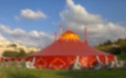 קרקס Y מעוף אולם אוהל לאירועים מופעים אקרובטים וואי