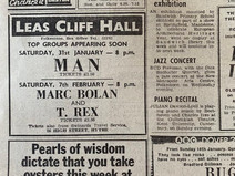 Marc Bolan & T.Rex at Folkestone Leas Cliff Hall 1975 and 1976