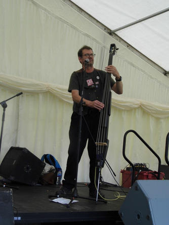 Tenterden - 2017 with Steve Bell on upright bass (the fishing rod)