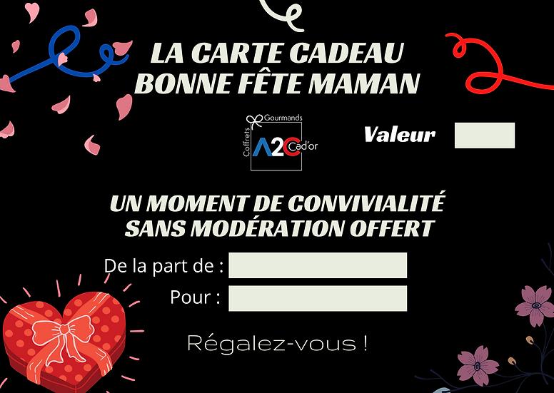 """Carte Cadeau """"Bonne fête maman"""""""