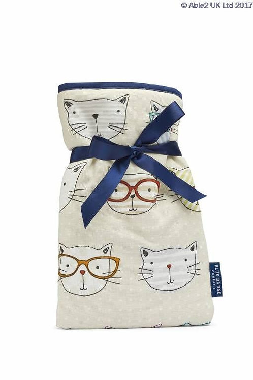 Blue Badge Mini Hot Water Bottle - Cool Cats