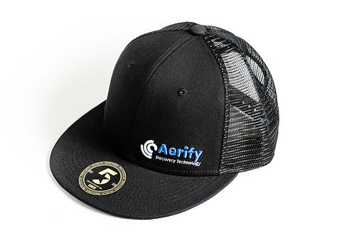Aerify black snapback cap