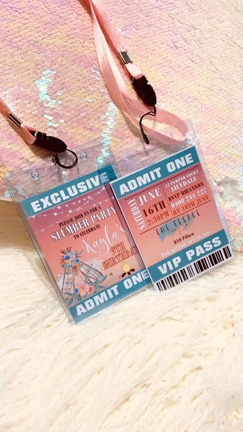 VIP Sleepover Invitation