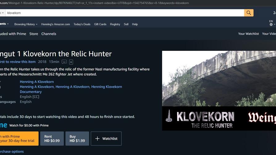Klovekorn on Amazon Prime Video