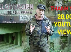 20,000 views Klovekorn the Relic Hunter!