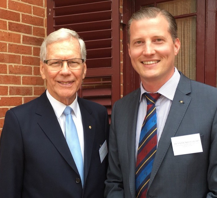 With the Hon. Dr. Dean Brown AO at the Sturt Trust