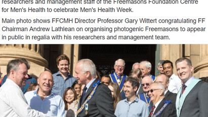 Men's Health Week launch Freemasons Foundation